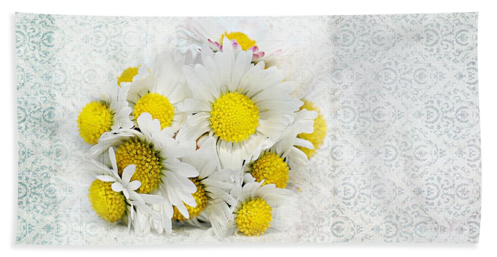 Still Life Bath Sheet featuring the photograph Daisy by Heike Hultsch