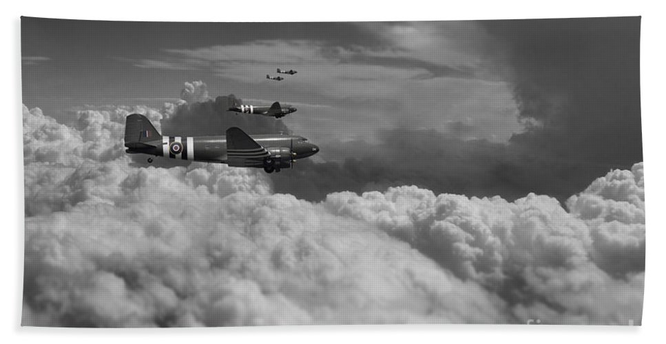 Douglas Bath Sheet featuring the digital art Dakota Air by J Biggadike