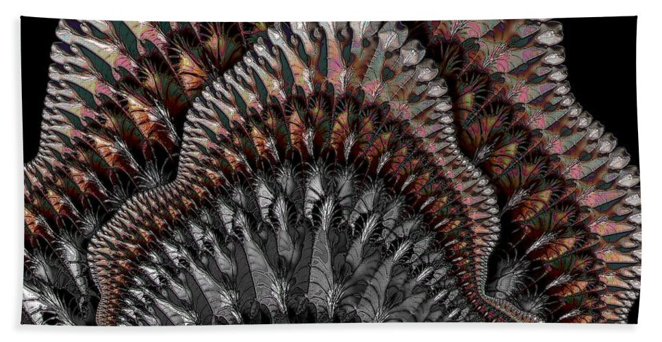 Abstract Hand Towel featuring the digital art Dance Fan by Ron Bissett