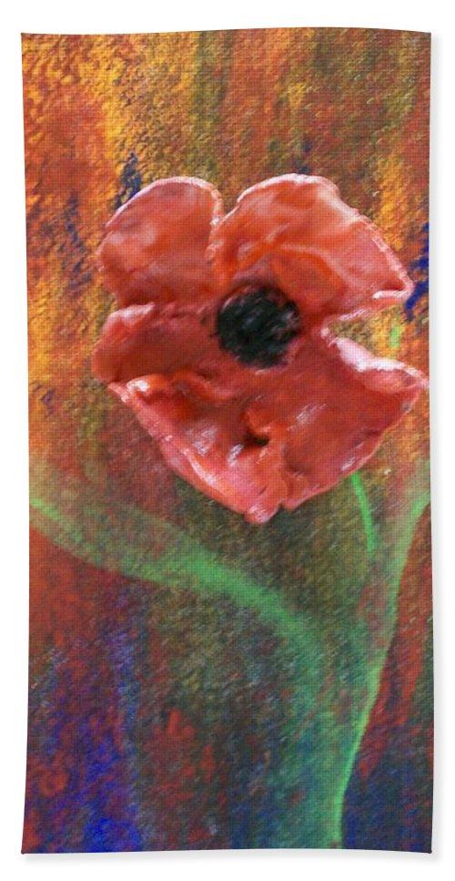 Flower Hand Towel featuring the painting Dances by Laurette Escobar