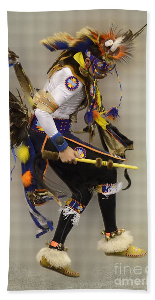 Pow Wow Hand Towel featuring the photograph Pow Wow Dancing For The Spirit by Bob Christopher