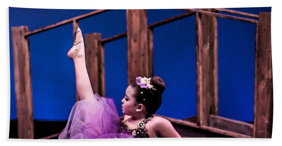Ballarena Bath Sheet featuring the digital art Dancing Princess by Stephen Brown