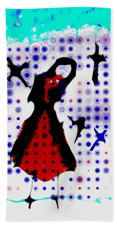 Girl Hand Towel featuring the photograph Dancing With The Birds by Jessica Shelton