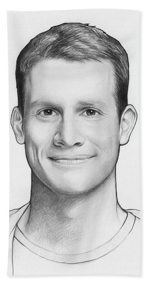 Graphite Pencil Carry-all Pouch featuring the drawing Daniel Tosh by Olga  Shvartsur