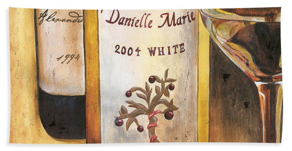 Red Grapes Bath Sheet featuring the painting Danielle Marie 2004 by Debbie DeWitt