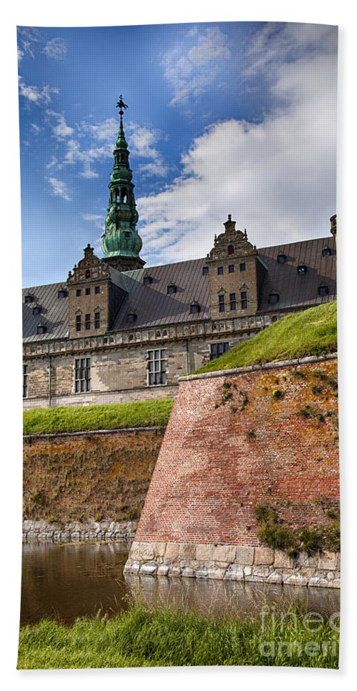 Unesco Hand Towel featuring the photograph Danish Castle Kronborg by Sophie McAulay