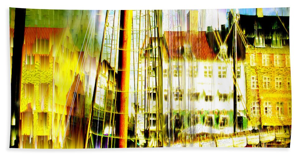 Cityscape Bath Sheet featuring the photograph Danish Harbor by Seth Weaver