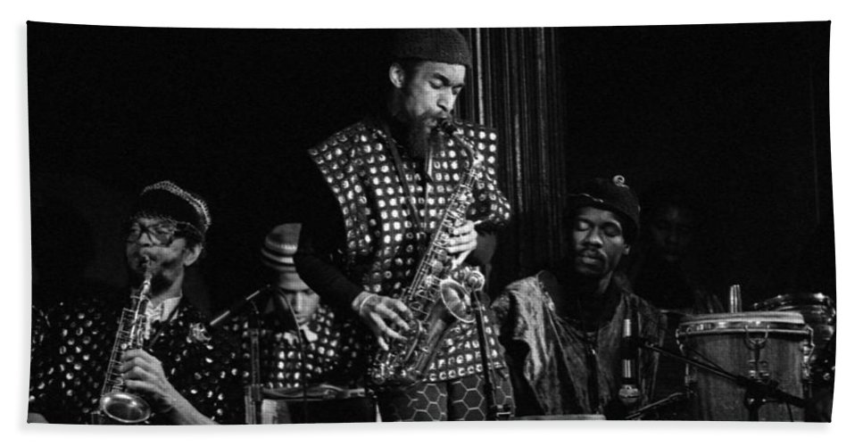Sun Ra Arkestra Bath Sheet featuring the photograph Danny Davis Solos by Lee Santa