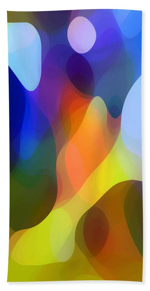 Abstract Art Hand Towel featuring the painting Dappled Light by Amy Vangsgard