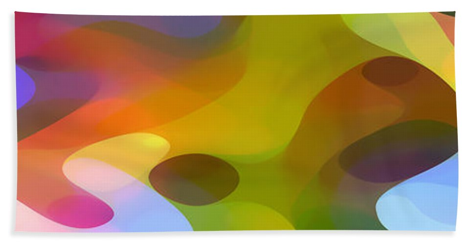 Bold Hand Towel featuring the painting Dappled Light Panoramic 2 by Amy Vangsgard