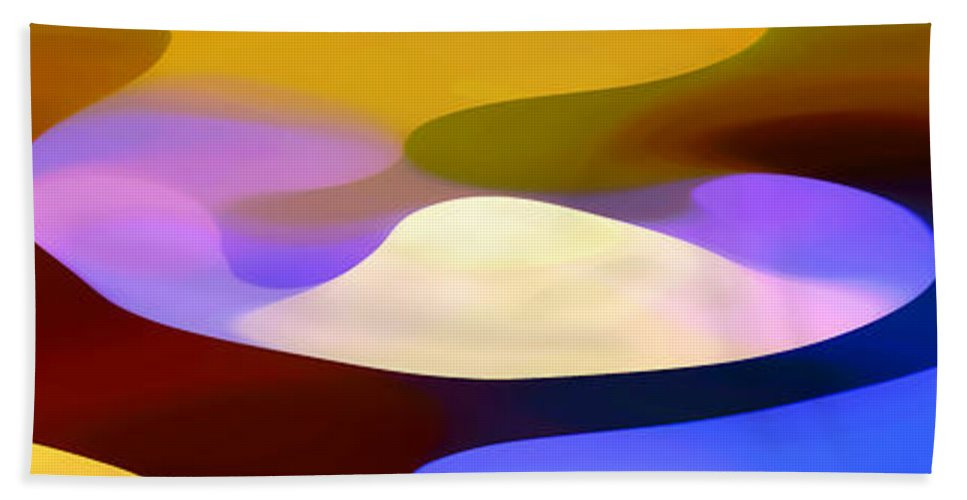 Bold Hand Towel featuring the painting Dappled Light Panoramic 4 by Amy Vangsgard