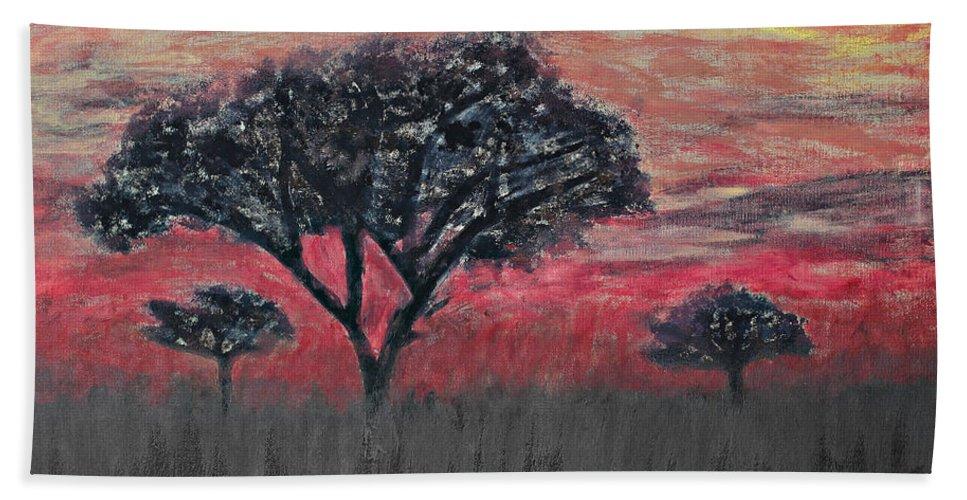 Tree Bath Sheet featuring the photograph Dark Africa by Paul Fell