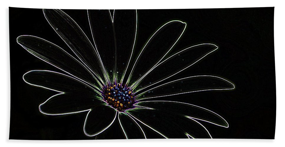 Flower Hand Towel featuring the photograph Dark Flower by Ben Yassa