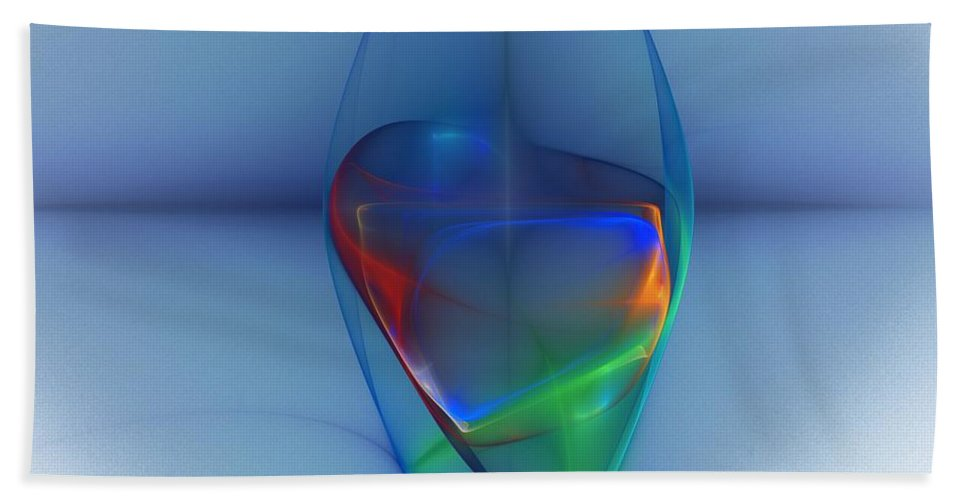 Fine Art Bath Towel featuring the digital art Dark Matter And Gravity Waves Revealed by David Lane