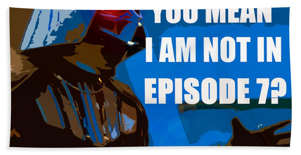 Darth Vader Bath Sheet featuring the painting Darth Varder Last Words by David Lee Thompson