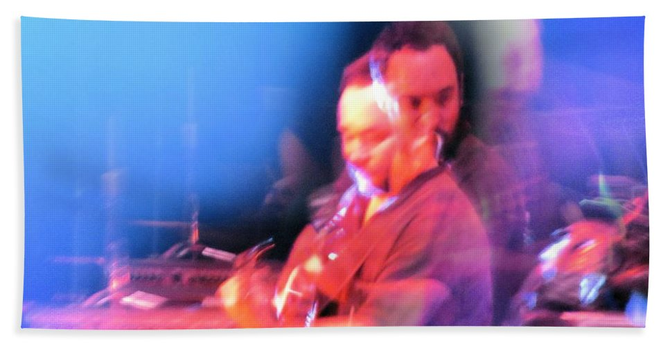 Abstract Bath Sheet featuring the photograph Dave Matthews Crazy Photo2 by Aaron Martens