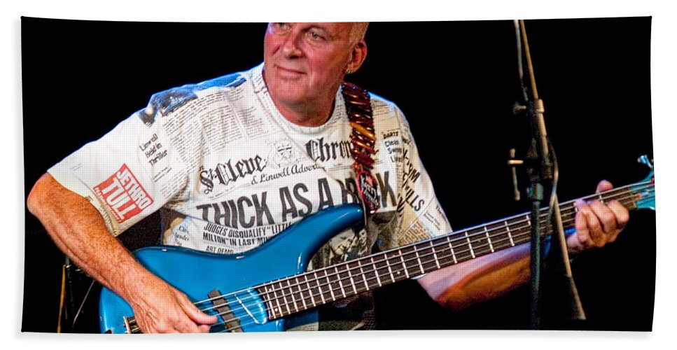 Art Bath Sheet featuring the photograph Dave Pegg Bass Player For Fairport Convention And Jethro Tull by Randall Nyhof