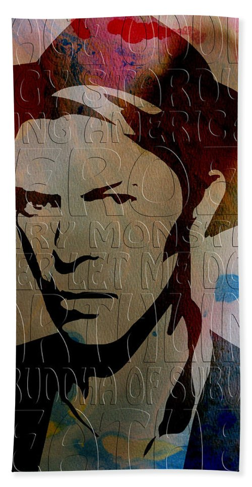 Bowie Bath Sheet featuring the photograph David Bowie by Andrew Fare
