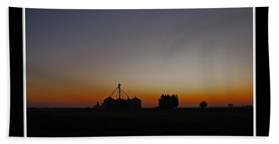 Landscape Bath Sheet featuring the photograph Dawn On The Farm by Debbie Portwood