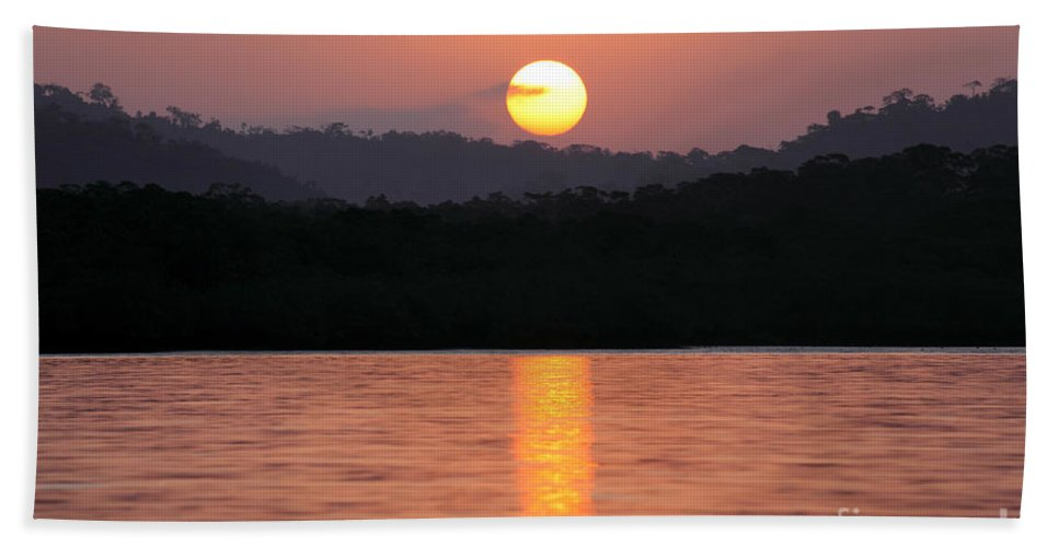 Panama Bath Sheet featuring the photograph Dawn Over Darien by James Brunker