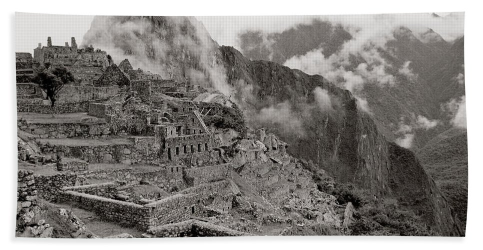 Machu Picchu Bath Sheet featuring the photograph Dawn Over Machu Picchu by Shaun Higson