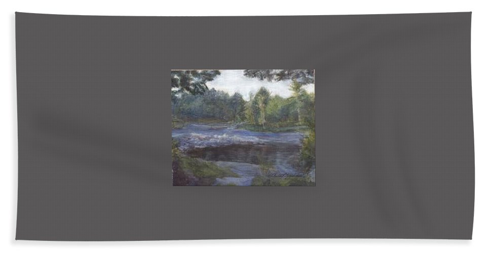 Dawn Hand Towel featuring the painting Dawn by Sheila Mashaw