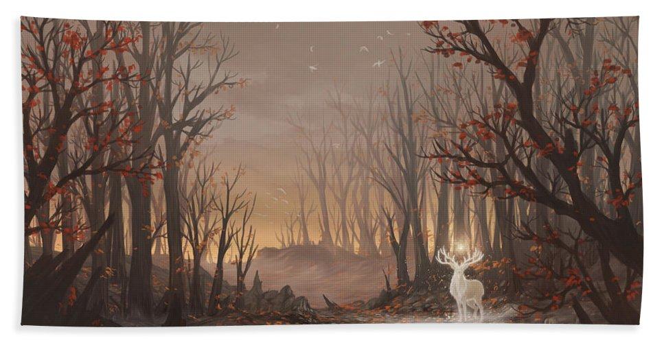 Tree Bath Sheet featuring the digital art Dawn Spirit by Cassiopeia Art