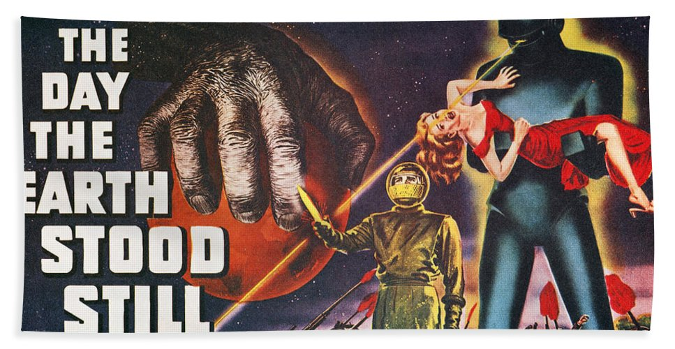 1951 Bath Sheet featuring the photograph Day The Earth Stood Still by Granger