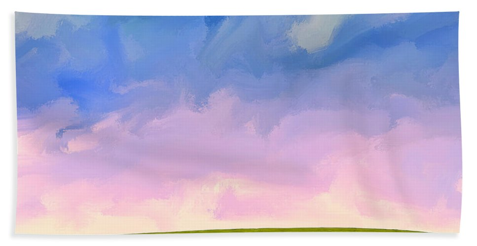Daybreak Hand Towel featuring the painting Daybreak by Dominic Piperata