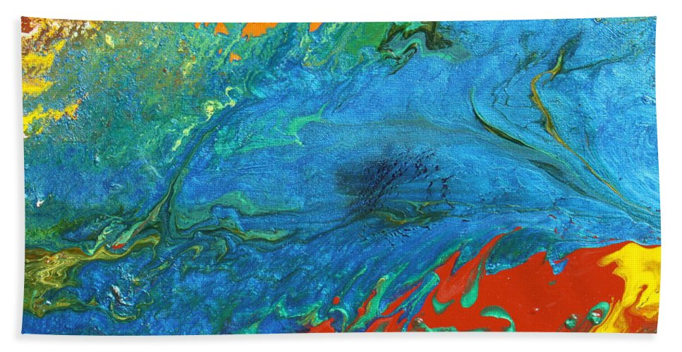 Fusionart Bath Sheet featuring the painting Daydream by Ralph White