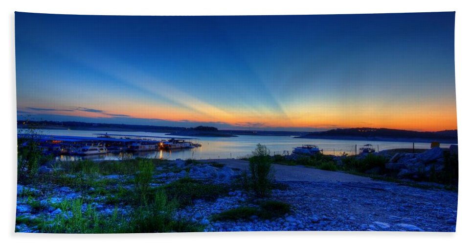 Lake Bath Sheet featuring the photograph Days End by Dave Files