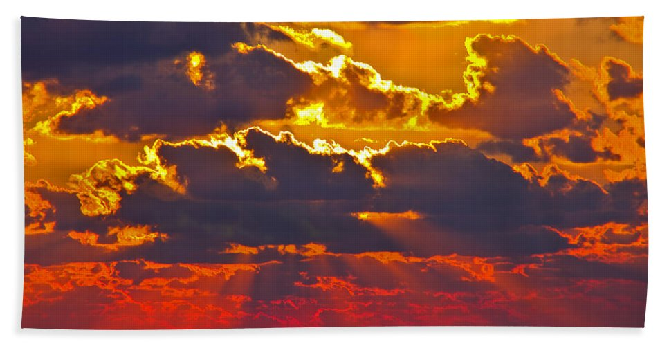 Florida Bath Sheet featuring the photograph Day's End by Stephen Whalen