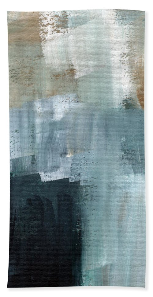 Abstract Art Bath Towel featuring the painting Days Like This - Abstract Painting by Linda Woods