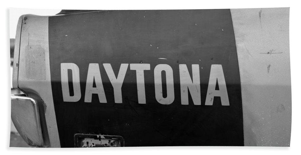 1970 Daytona Charger Hand Towel featuring the photograph Daytona Dominator by David Lee Thompson