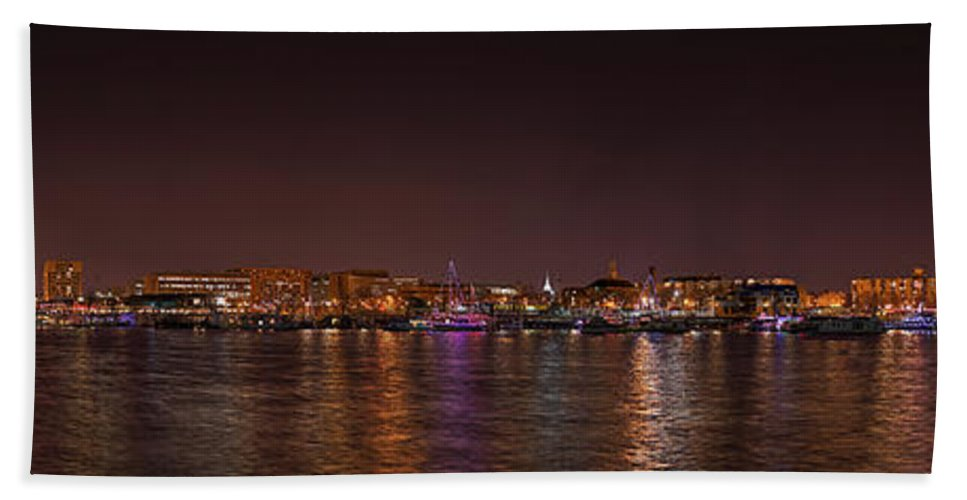 Metro Hand Towel featuring the photograph Dc Waterfront by Metro DC Photography