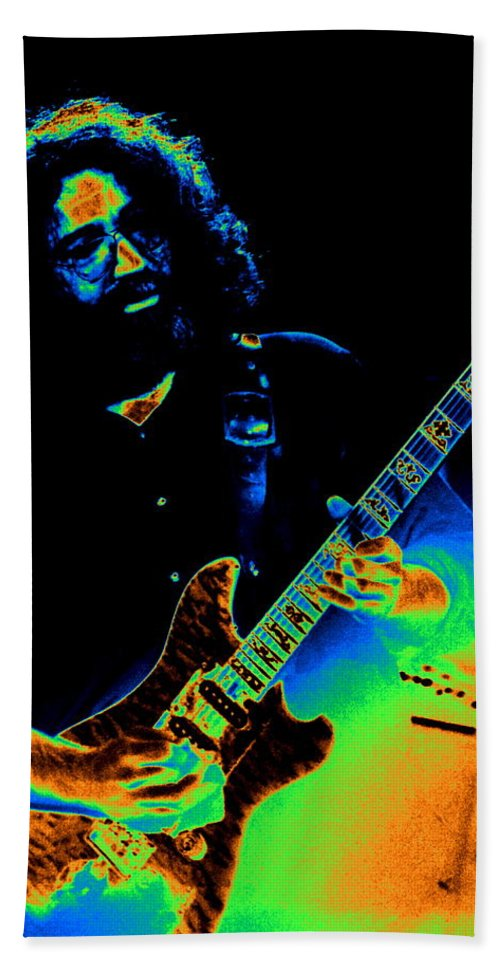 Grateful Dead Hand Towel featuring the photograph Dead #20 With Cosmic Enhancement 1 by Ben Upham
