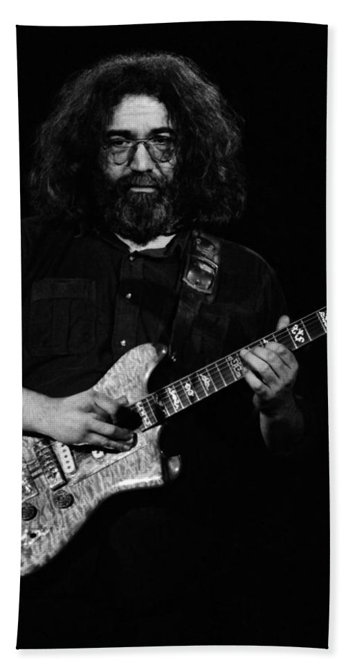 Jerry Garcia Bath Sheet featuring the photograph Dead #9 by Ben Upham