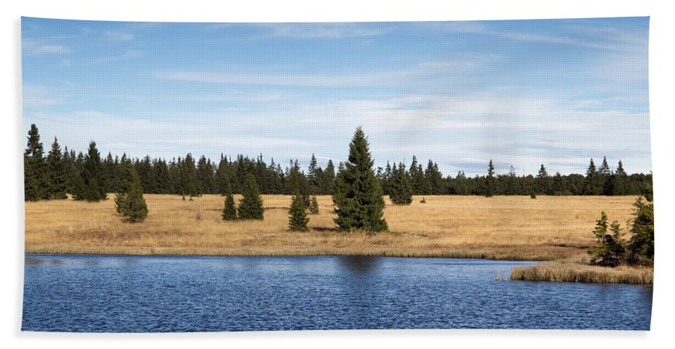 Lake Hand Towel featuring the photograph Dead Pond by Michal Boubin