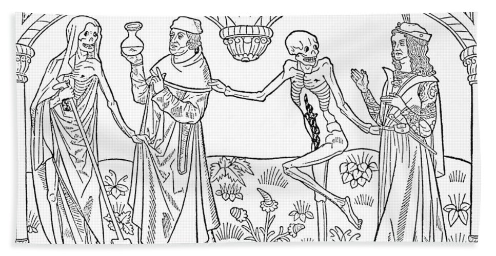 1490 Bath Sheet featuring the photograph Death - Doctor And Lover by Guyot Marchand