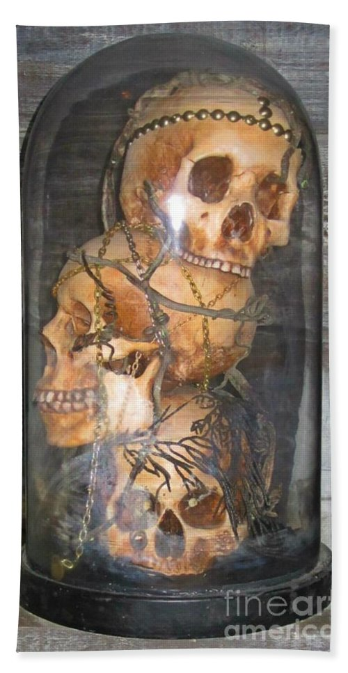 Death On Display Hand Towel featuring the photograph Death On Display by Crystal Loppie
