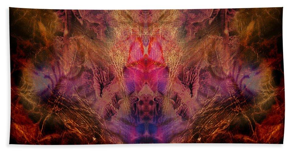 Digital Bath Towel featuring the digital art Decalcomaniac Mirror by Otto Rapp