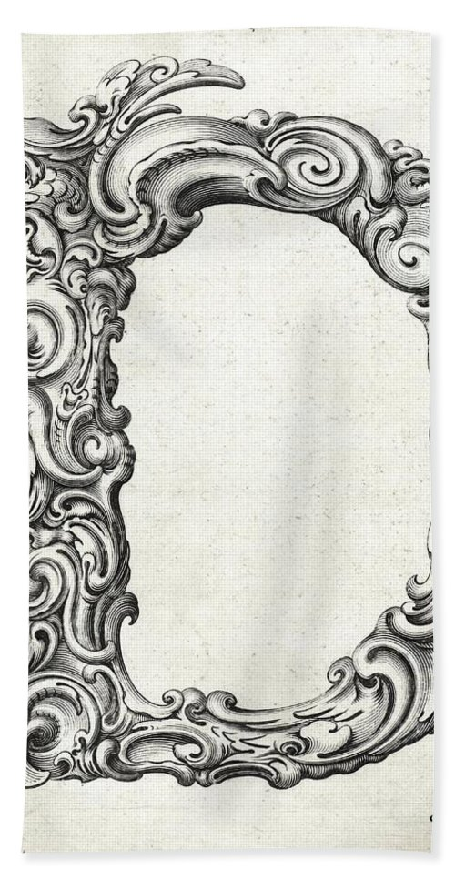 D Bath Sheet featuring the photograph Decorative Letter Type D 1650 by Georgia Fowler