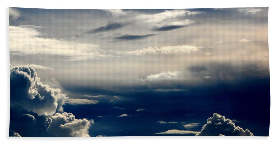 Art For The Wall...patzer Photography Hand Towel featuring the photograph Deep Blue by Greg Patzer