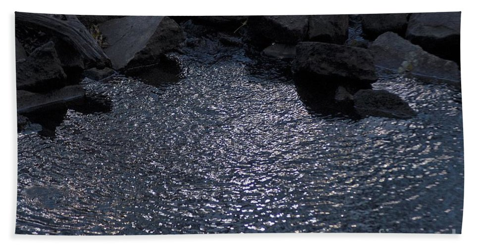 Reflections Hand Towel featuring the photograph Deep Blue by Joseph Yarbrough