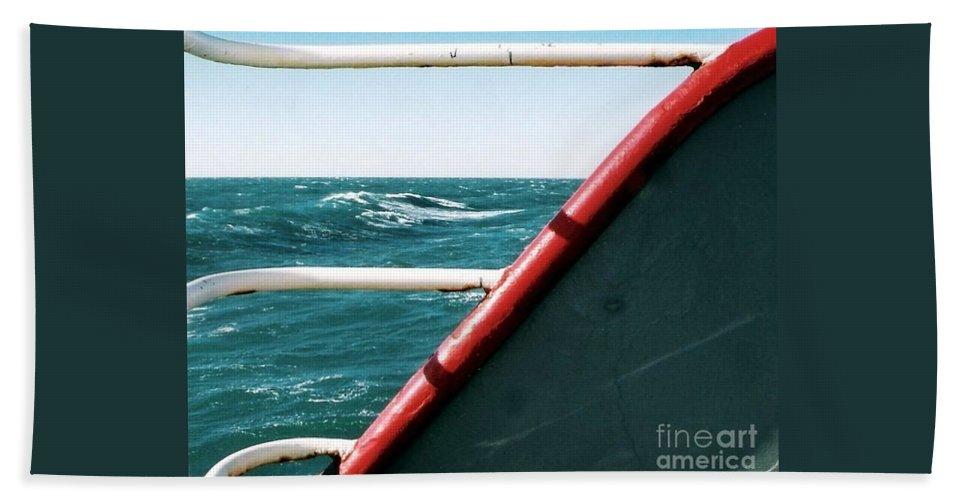 Aqua Photography Hand Towel featuring the photograph Deep Blue Sea Of The Gulf Of Mexico Off The Coast Of Louisiana Louisiana by Michael Hoard