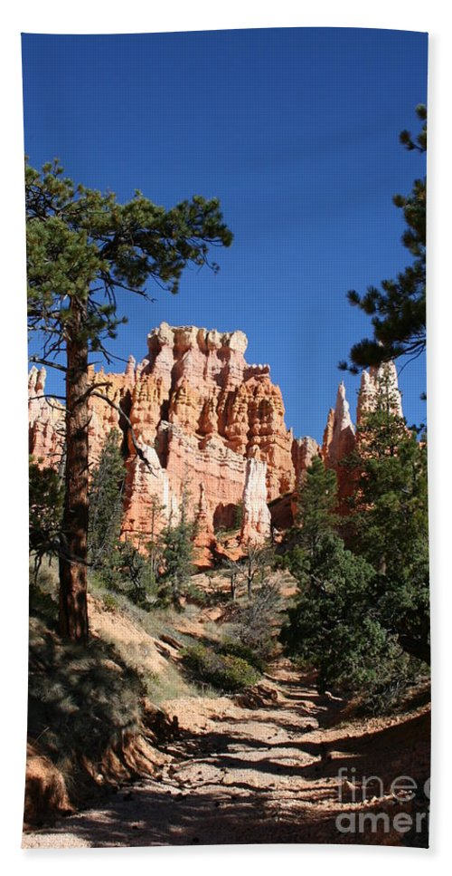 Canyon Bath Sheet featuring the photograph Deep In The Bryce Canyon by Christiane Schulze Art And Photography
