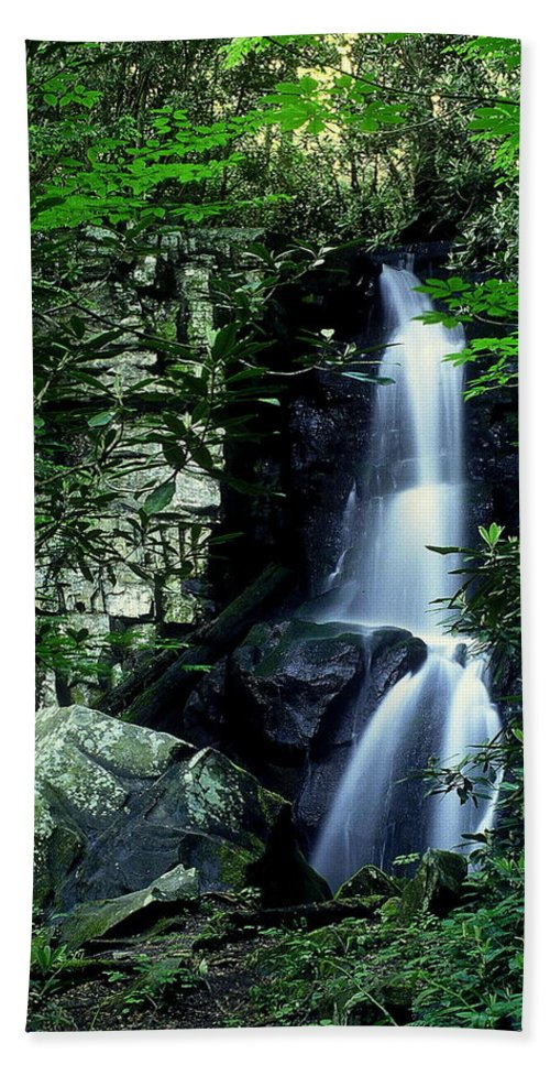 Fine Art Bath Sheet featuring the photograph Deep In The Mountains by Rodney Lee Williams