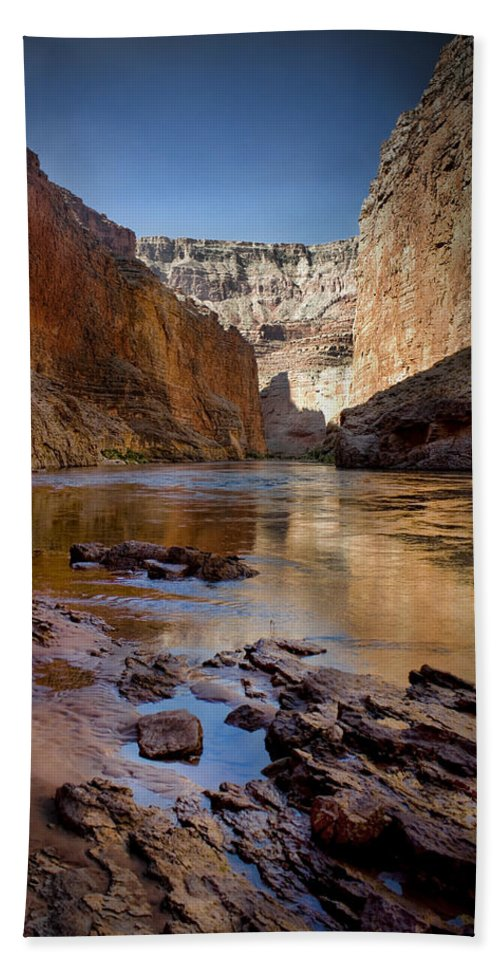 Grand Canyon Bath Towel featuring the photograph Deep Inside The Grand Canyon by Ellen Heaverlo