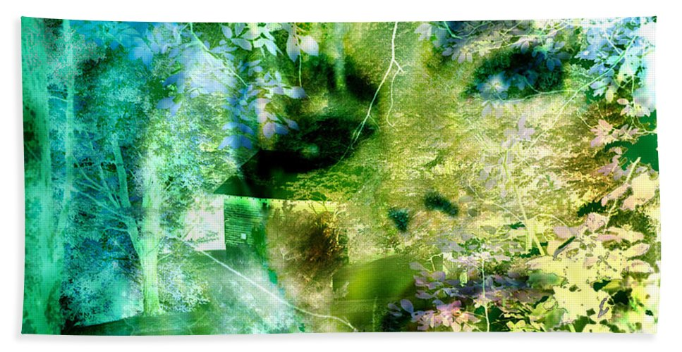 Deep Woods Wanderings Bath Sheet featuring the digital art Deep Woods Wanderings by Seth Weaver