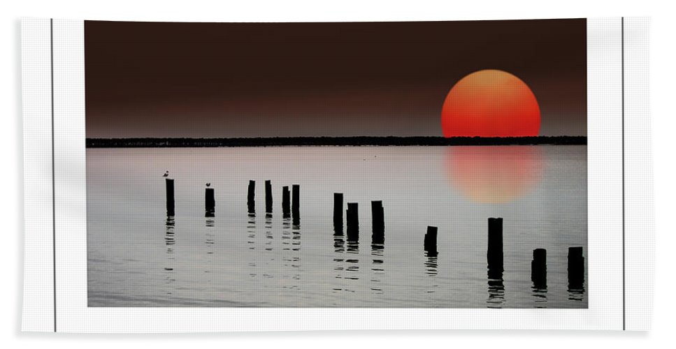 Island Hand Towel featuring the photograph Deer Island Sunset Poster by Mike Nellums